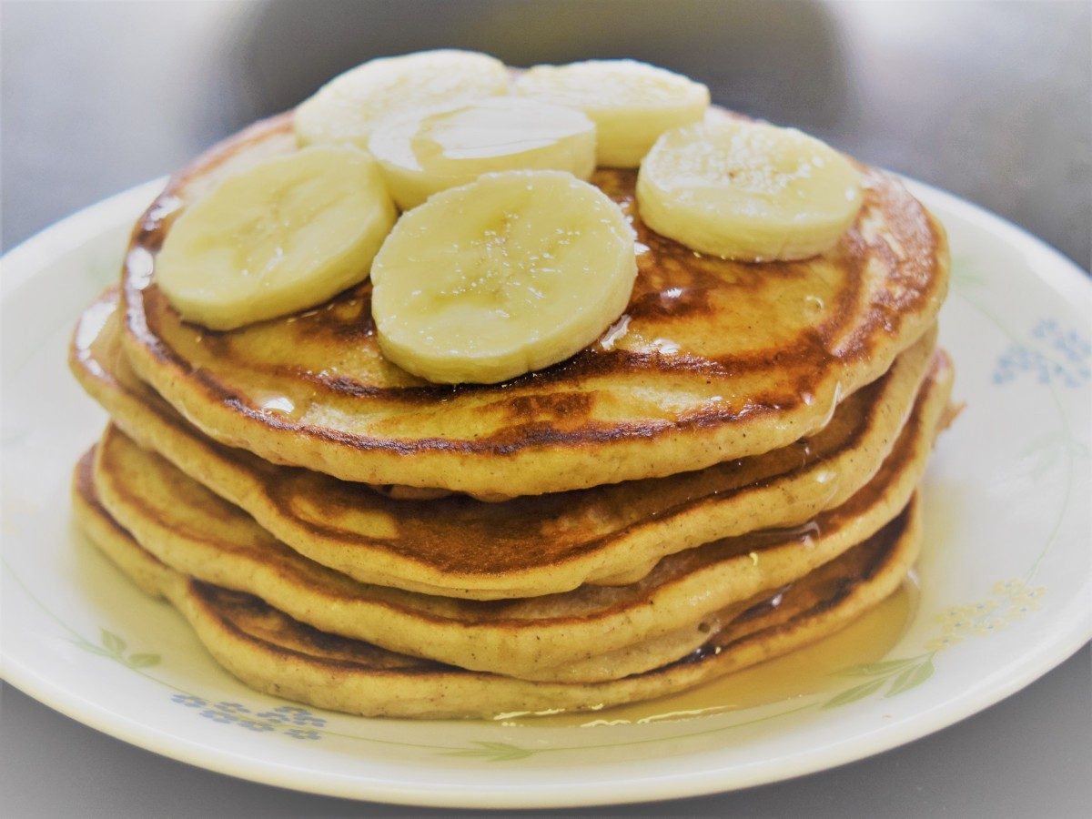 Banana Pancakes using wheat flour